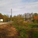 Das Grundstück vor dem Bagger